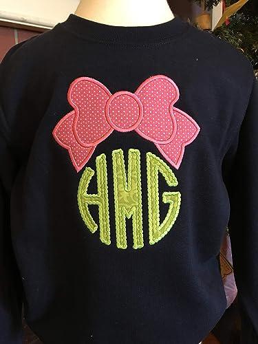 Amazon Com Girls Monogram Sweatshirt Toddler Girl Personalized Sweatshirt Little Girls Sweatshirt Handmade