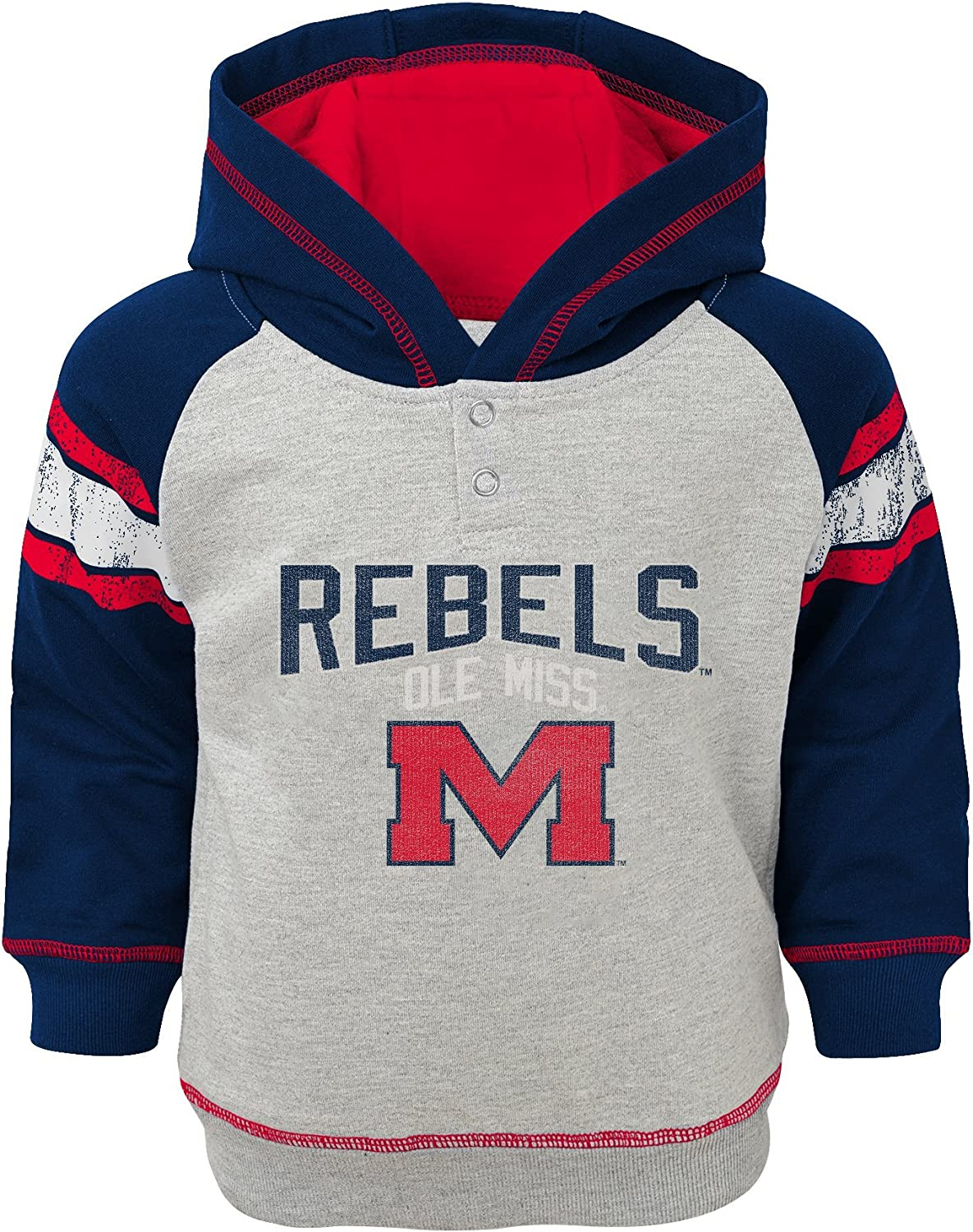 NCAA by Outerstuff NCAA boys Ncaa Boys 4-7 Classic Stripe French Terry Pullover Hoodie