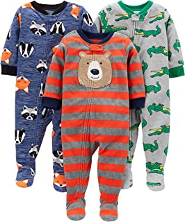 Simple Joys by Carter s Baby and Toddler Boys  3-Pack Loose Fit Fleece  Footed 12e0f76d4