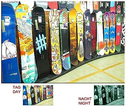 Amazon.com: Startonight Canvas Wall Art Snowboard Shop, Glow in the ...