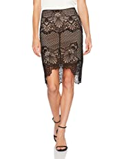 f09138750f Kendall + Kylie Women's Scallop Lace Pencil Skirt