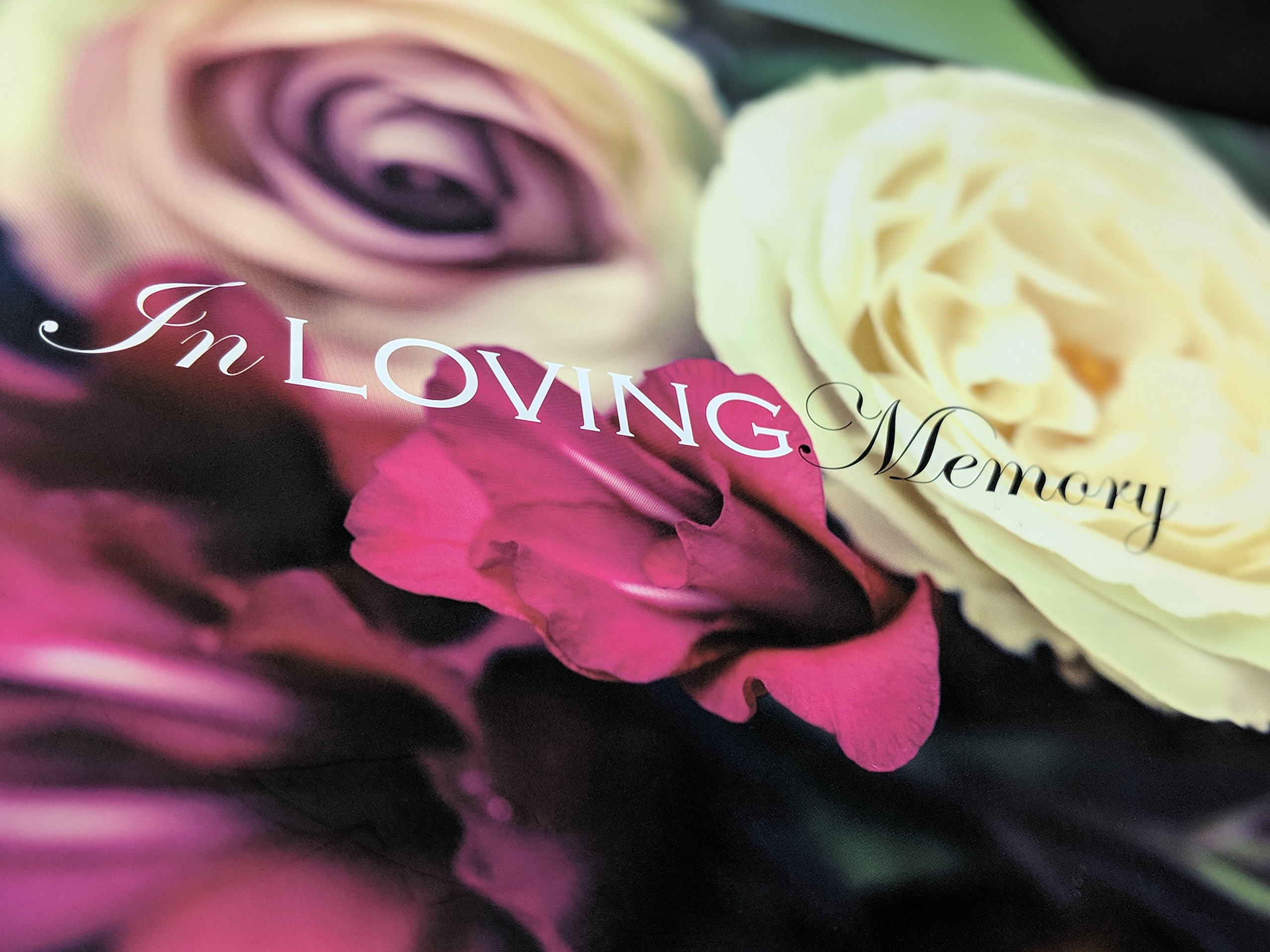 In Loving Memory Funeral Guest Book, Memorial Guest Book, Registration Book, Condolence Book, Remembrance Book, Contemporary Matte Finish, Hard Cover