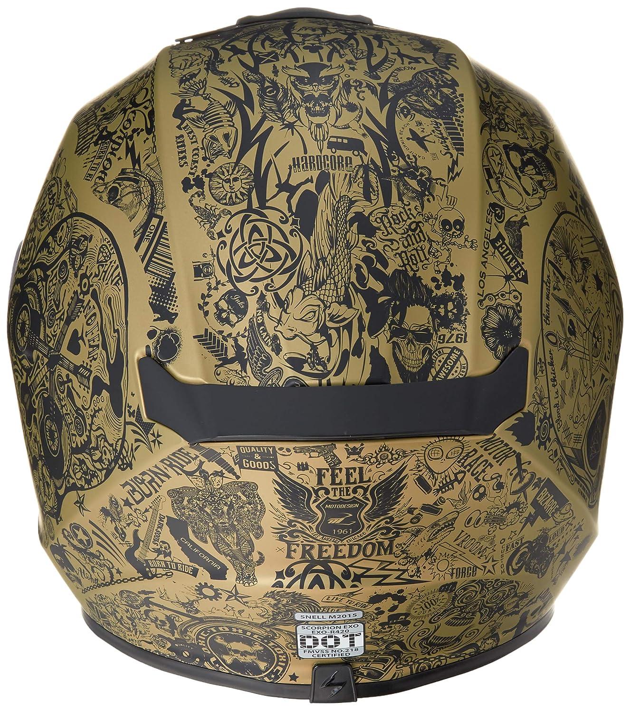 White, X-Small Scorpion Unisex-Adult Full-face-Helmet-Style Shake 75-1135XS