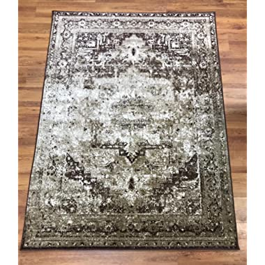 Antep Rugs Zeugma Collection Olympus Polypropylene Area Rug (Beige/Brown, 7'10  x 10')