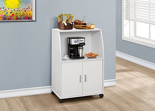 Monarch Specialties I Kitchen Cart, 33 , White