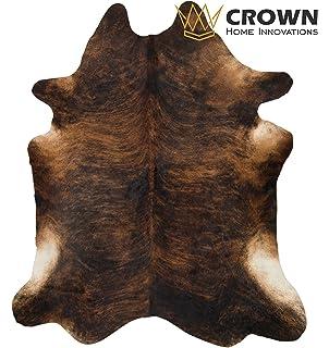 7u0027ft X 6 Ft Brindle Cowhide Rug | Cowhide Area Rugs By Crown Home