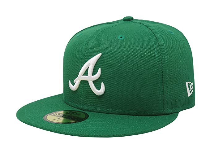 fd5d725abb7 ... clearance new era 59fifty hat mlb atlanta braves basic kelly green  fitted cap 11591180 7 92738