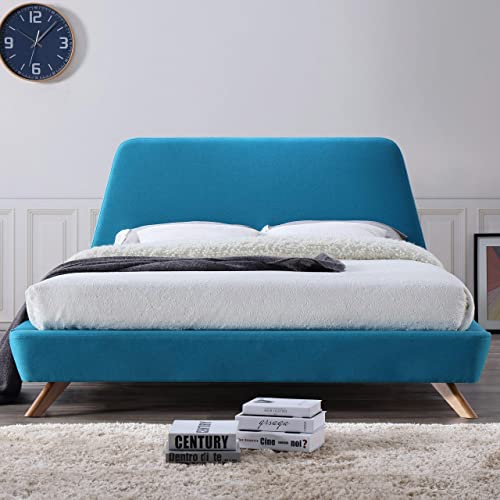 Omax Decor Henry Upholstered Platform Bed