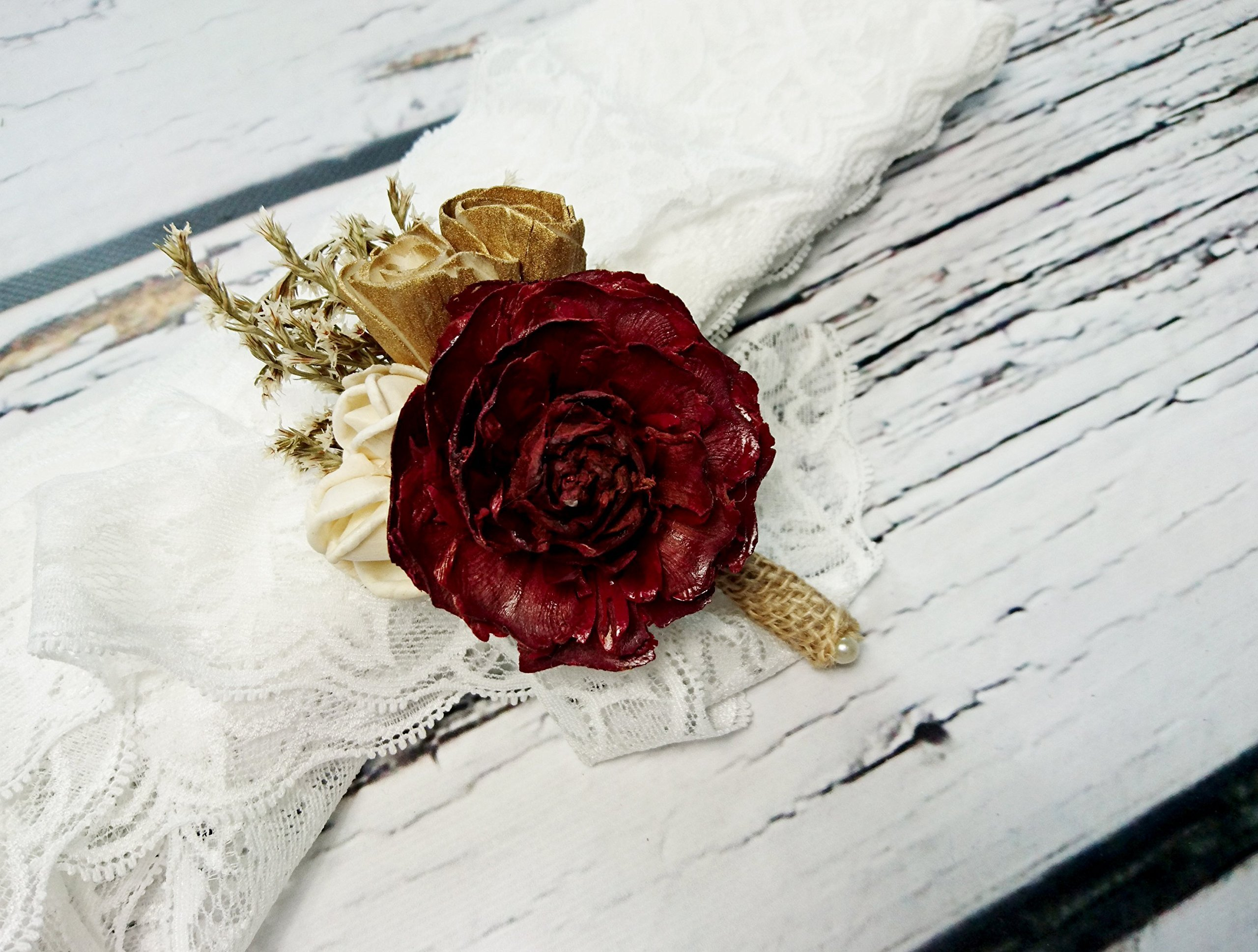 Ivory-Brown-Burgundy-Gold-Rustic-Wedding-Boutonniere-Sola-Flowers-Cedra-Rose-Burlap