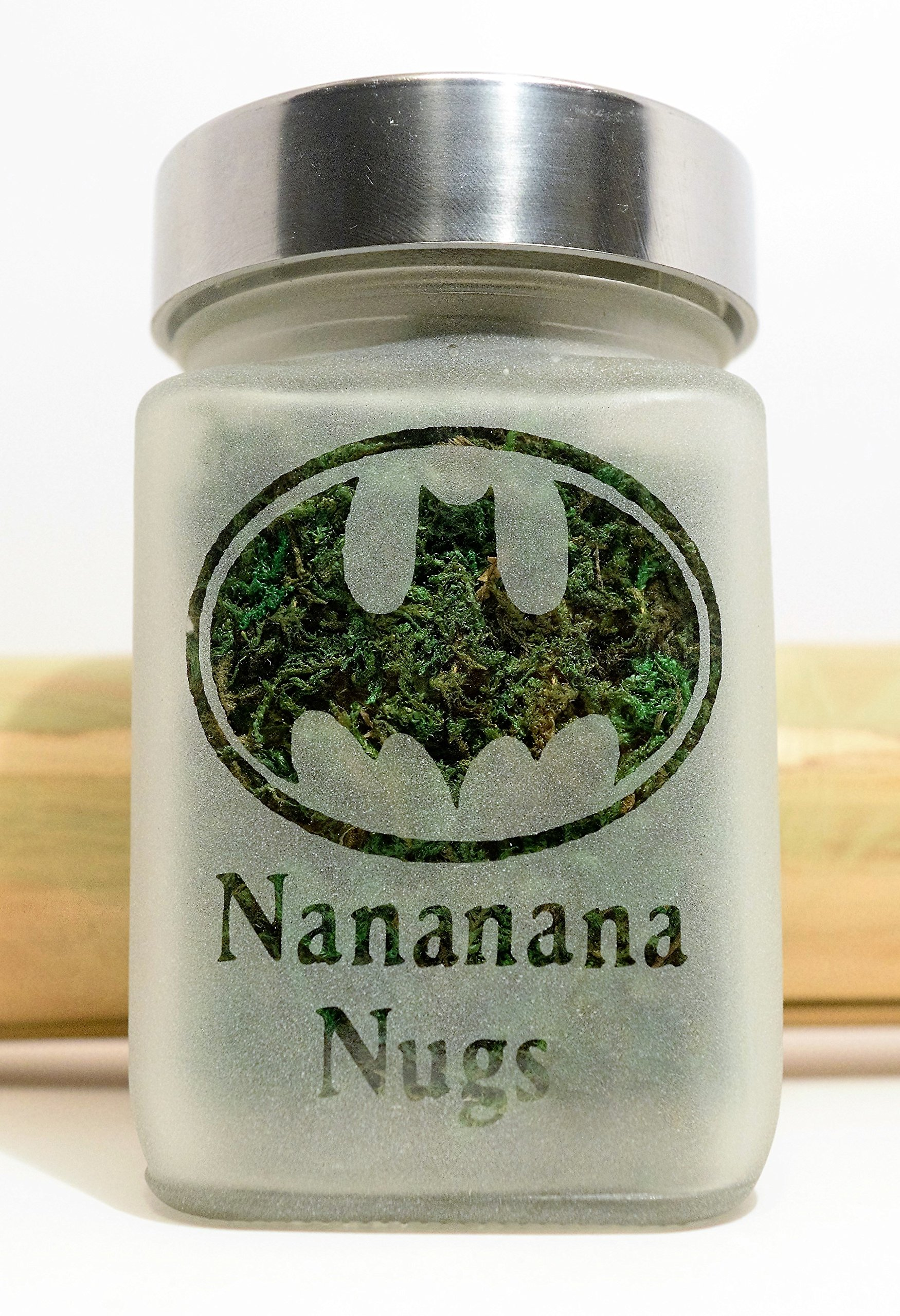 Retro Batman Stash Jar | Nananana Nugs Weed Jar and Weed Accessories | Stoner Gifts, Stash Jars & Stoner Accessories by Twisted420Glass (Image #4)