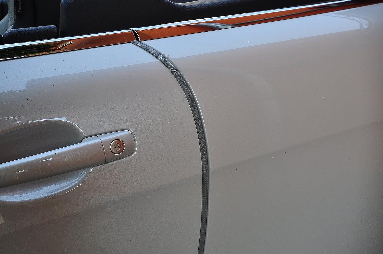 8 Meter T/ürkantenschutz Carbon Look schwarz T/ürrammschutz Gummi sch/ützen Sie effektiv Ihren kostenbaren Auto Lack