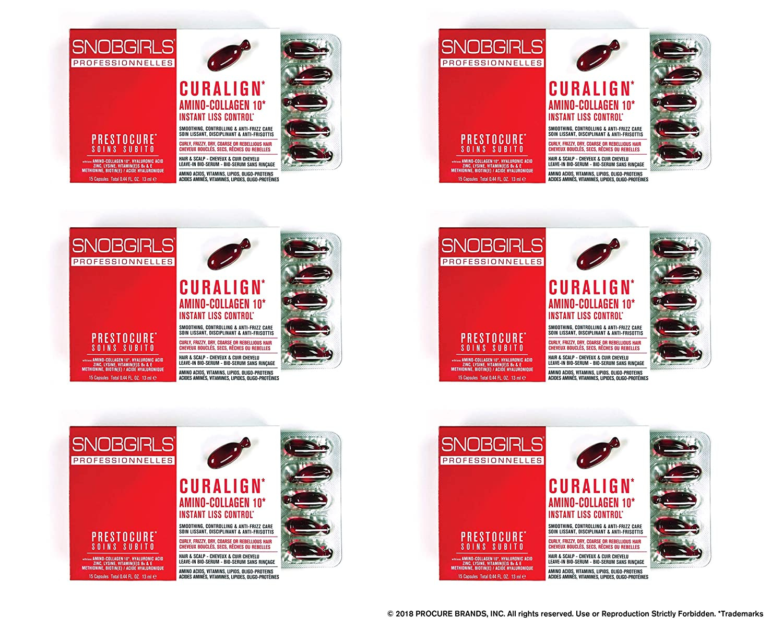 SNOBGIRLS CURALIGN TWIST-OFF HAIR CAPSULES - 6×15個のパックのパック(合計90個のパック) B07L5RV2L6