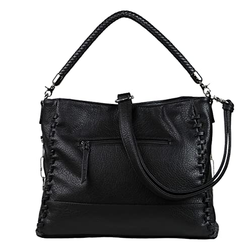 Concealed Carry Purse - YKK Locking Lily Tote by Lady Conceal (Black ... 12a27265646d7