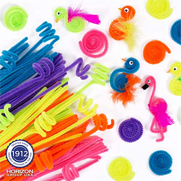 Liangfen 43 Pcs Crafting Kit for Kids Pipe Cleaners Paper Crafts DIY Art Supplies for Childrens Craft Projects Holiday Crafts Pompoms /& Googly Eyes Large Assortment of Colors /& Size