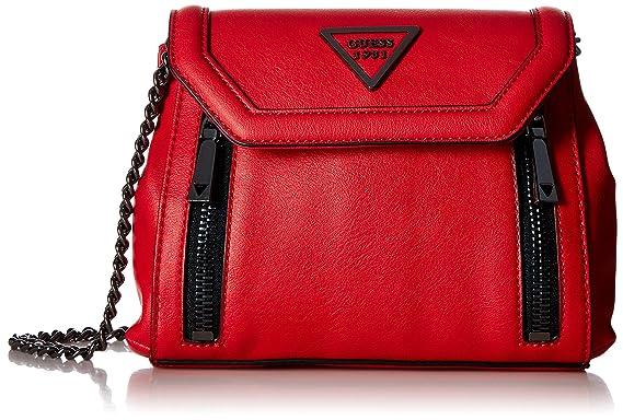 122f952490 Guess - Sac bandoulière à rabat Urban Sport Savoy Femme, rouge (Rouge),