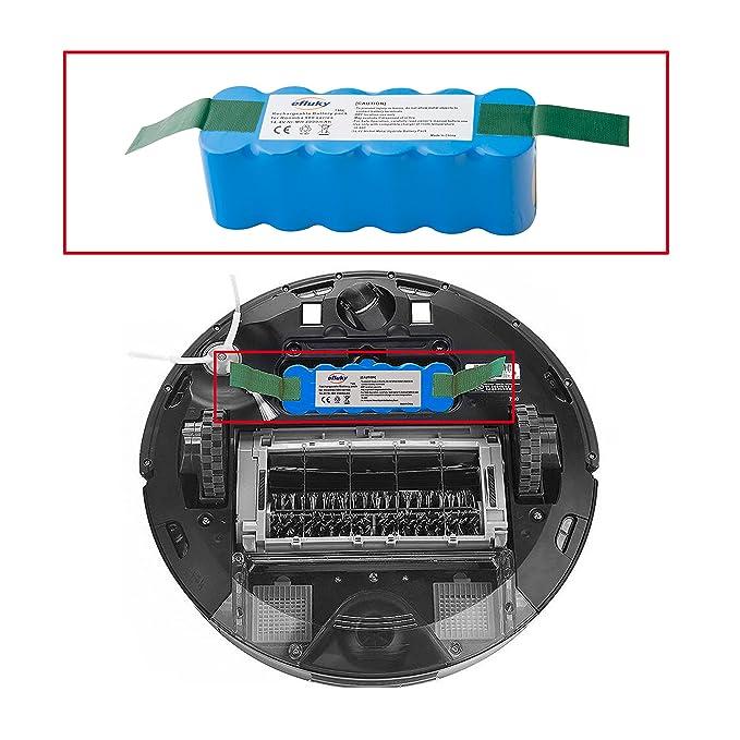 efluky 14,4 V 4.0Ah Ni-MH batería de repuesto para iRobot Roomba 500 600 700 800series: Amazon.es: Hogar