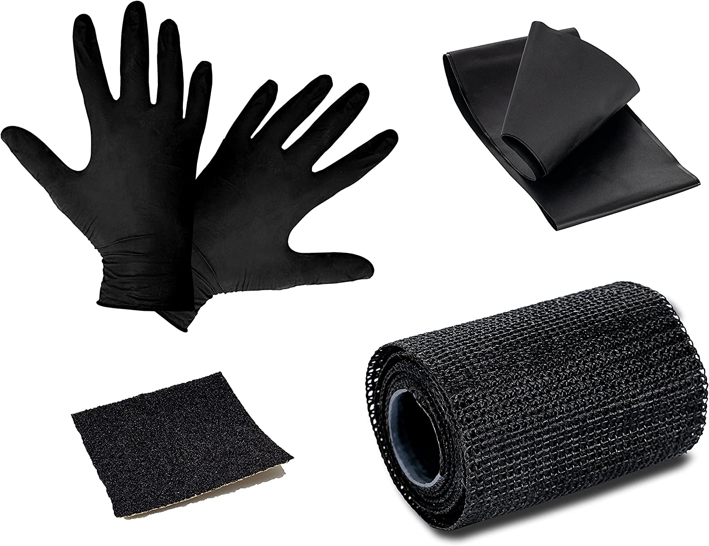 poliuretano recubierto de fibra de vidrio cinta de tela m/ás resistente que la cinta adhesiva Poppstar 1x cinta de reparaci/ón cinta para exteriores 5cm x 130cm de largo