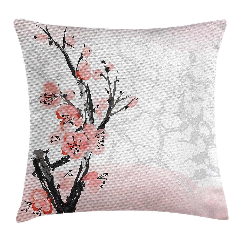 DCOCY Funda de cojín floral, diseño de flores de cerezo ...