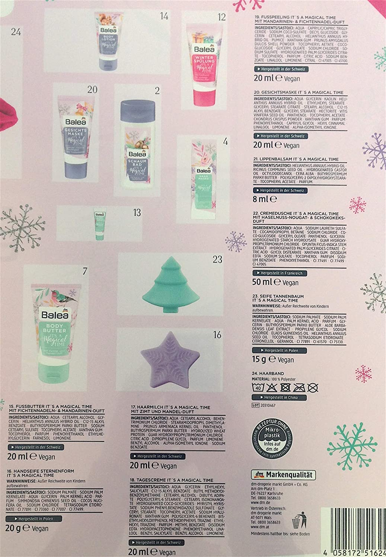 Beauty Limitiert Balea Adventskalender 2020 MakeUp Kosmetik Advent Calendar