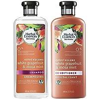 Herbal Essences Bio Renew Haircare - Naked Volume - White Grapefruit & Mosa Mint - Shampoo & Conditioner Set - Net Wt. 13.5 FL OZ (400 mL) Per Bottle - One Set