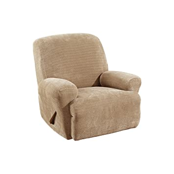 Sure Fit Stretch Royal Diamond 1-Piece - Recliner Slipcover - Cream (SF36571)  sc 1 st  Amazon.com : recliner slipcover - islam-shia.org