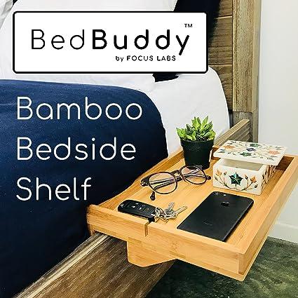 Amazon Com Bedbuddy Bamboo Bedside Shelf For Bunk Beds