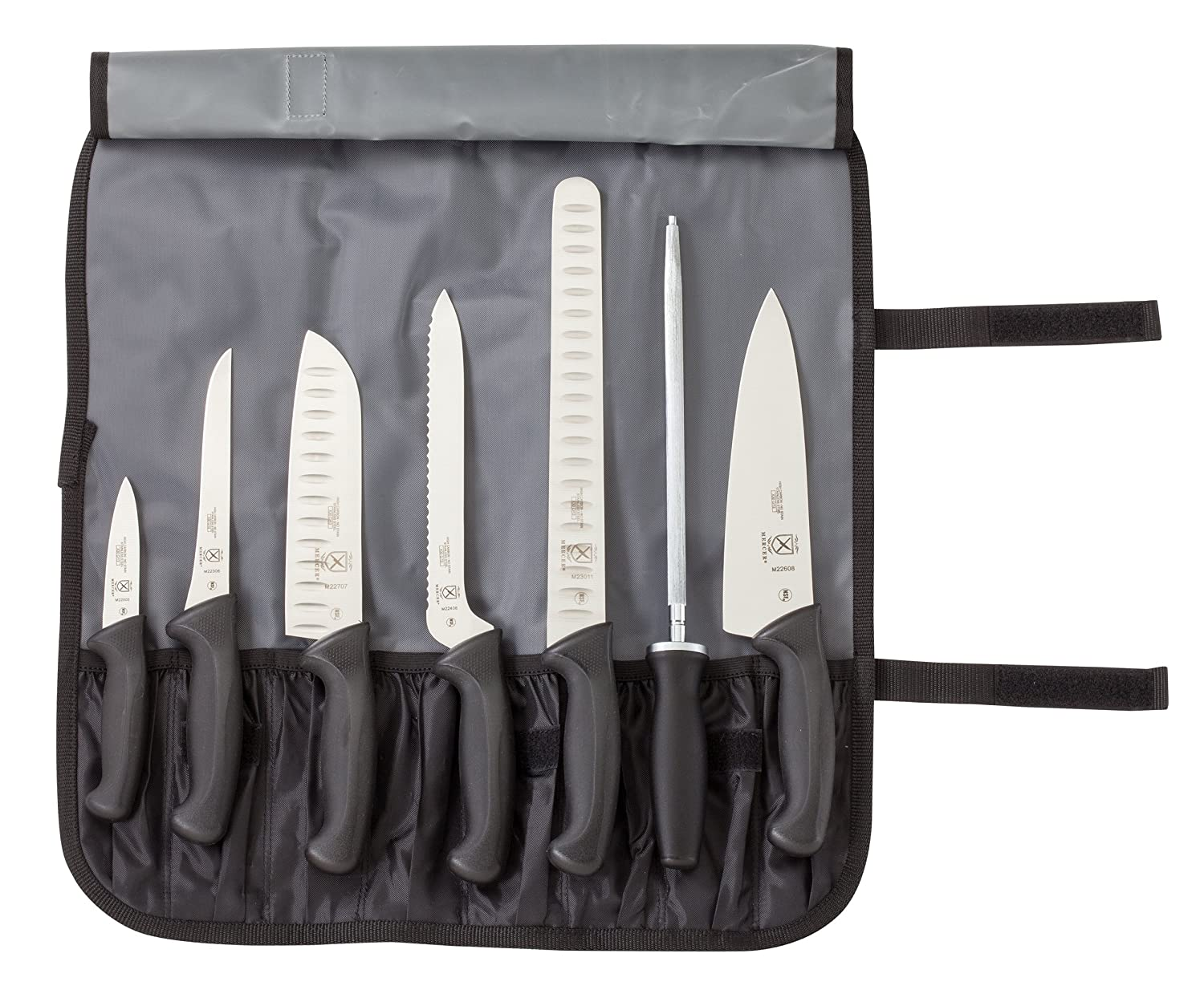Mercer Culinary Millennia 8-Piece Knife Roll Set