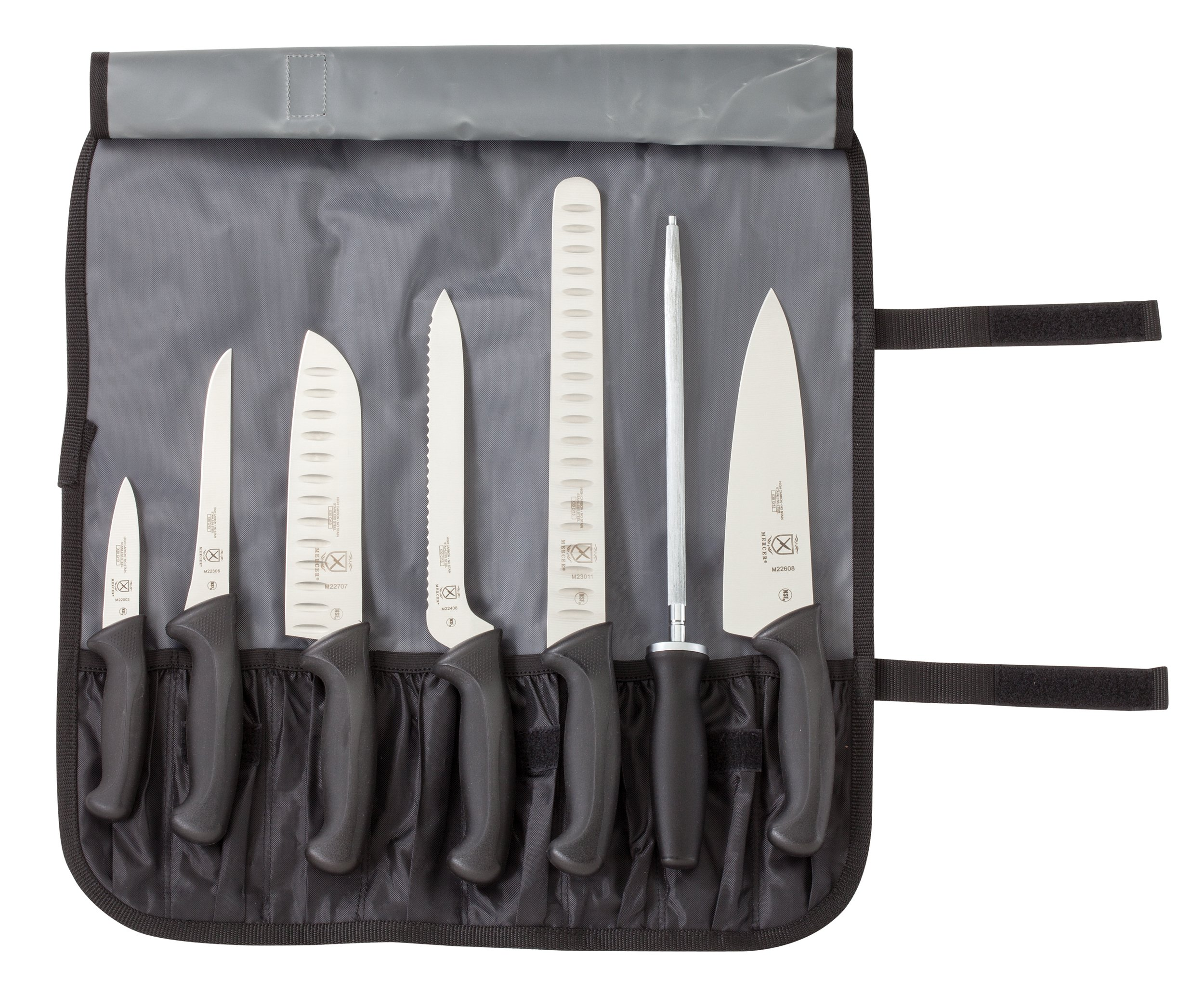 Mercer Culinary Millennia 8-Piece Knife Roll Set by Mercer Culinary