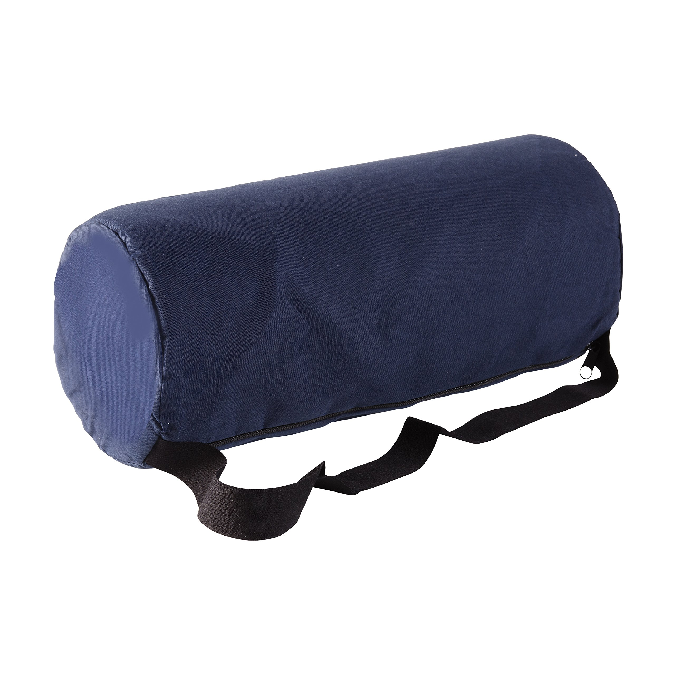 DMI Lumbar Roll Back Support Cushion Pillow - Foam Lumbar Cushion with Cover and Strap, Navy by Duro-Med (Image #8)