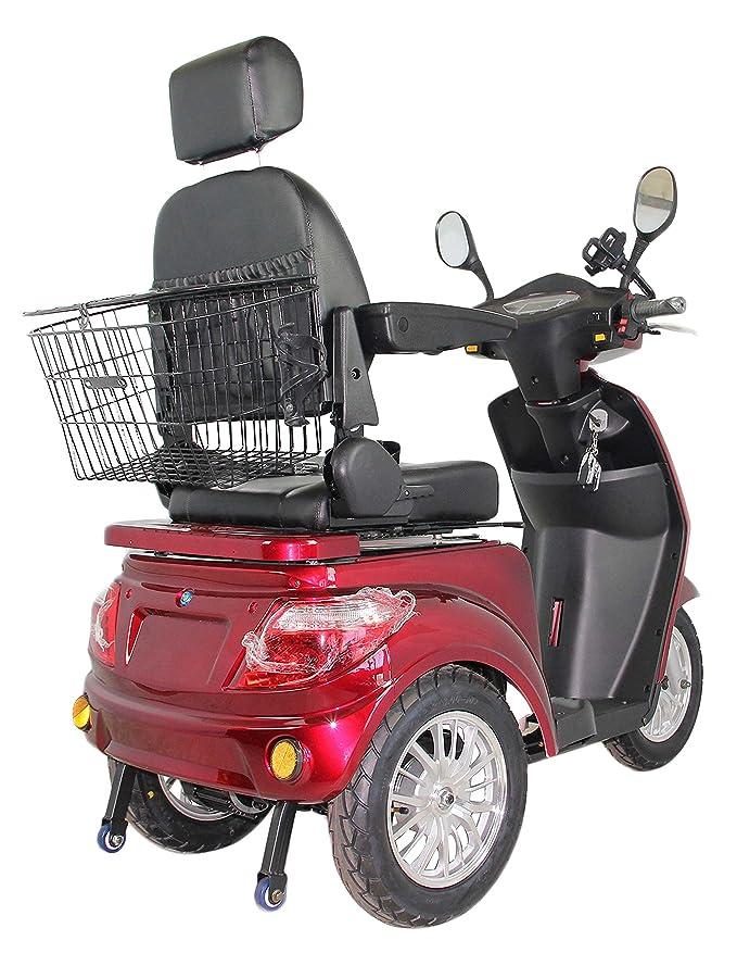 GreenPower - Ciclomotor eléctrico con 3 ruedas, color rojo: Amazon.es: Salud y cuidado personal