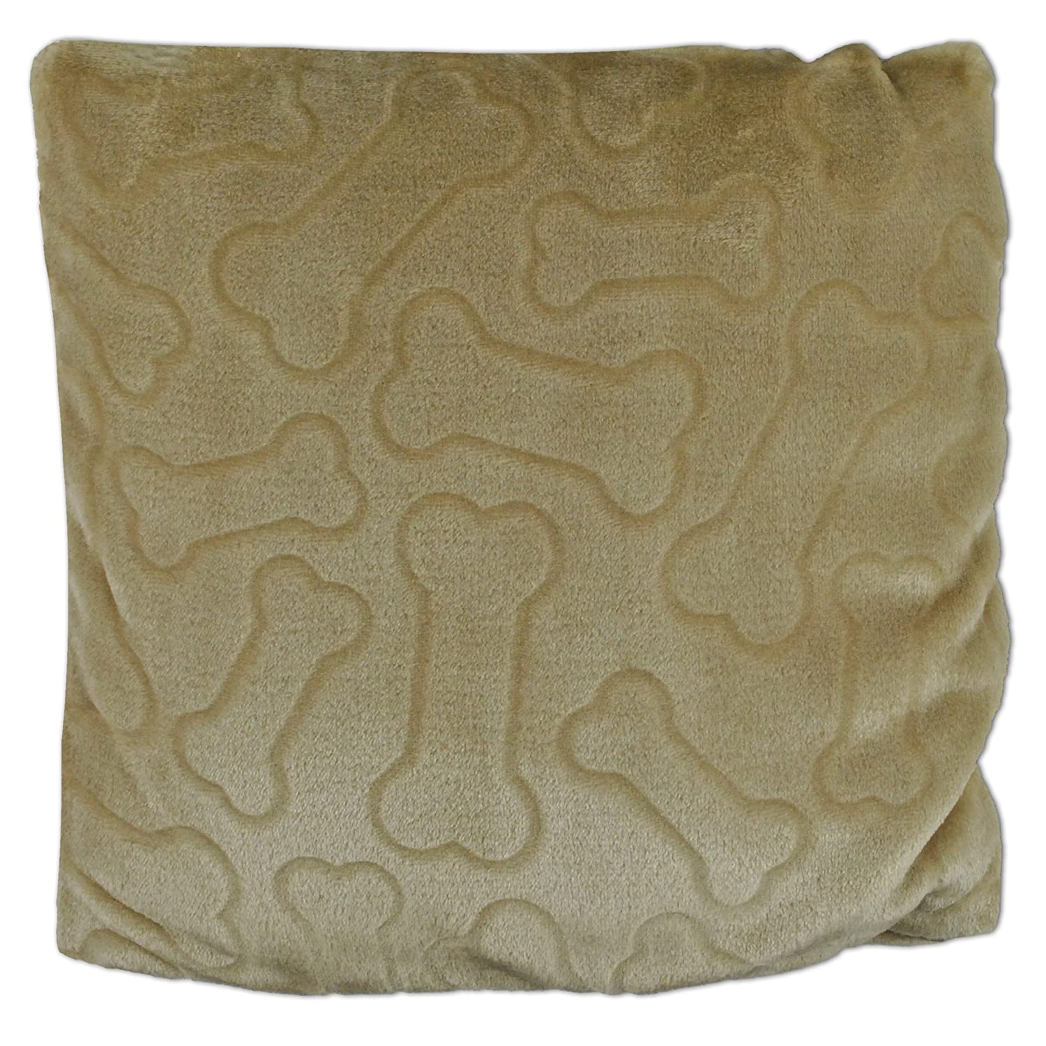 DII Bone Dry Medium Pet Pllow Blanket for Dogs and Cats, 50x60 , Warm, Soft and Plush for Couch, Car, Trunk, Cage, Kennel, Dog House-Taupe