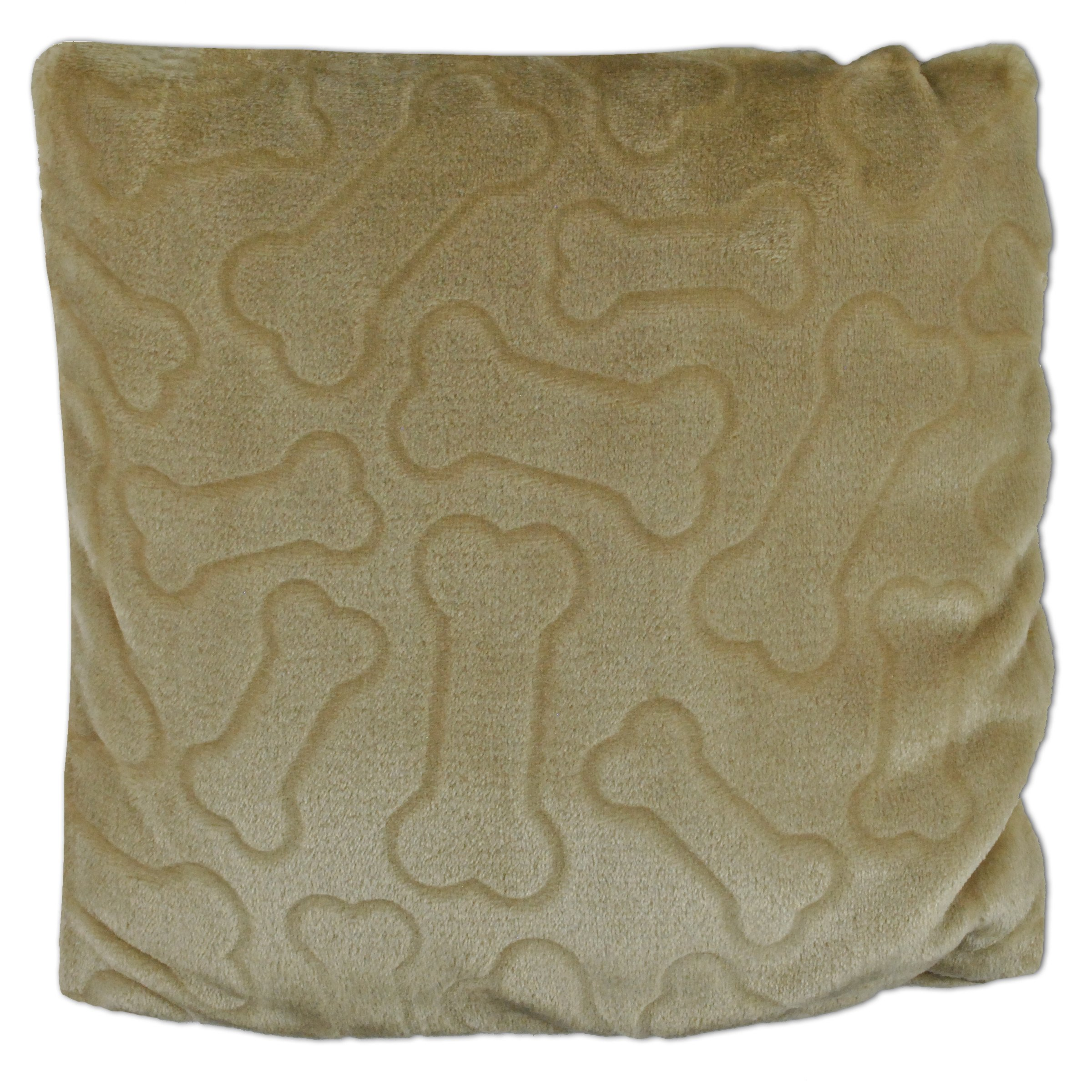 Bone Dry DII Medium Pet Pllow Blanket for Dogs and Cats, 50x60, Warm, Soft and Plush for Couch, Car, Trunk, Cage, Kennel, Dog House-Taupe