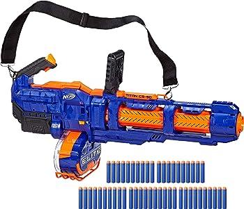 Nerf Elite Titan CS-50 Fully Motorized Toy Blaster with 50 Darts