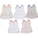 Sathiyas Baby Girls Gathered Dresses (Pack of 5) (0-6Months)