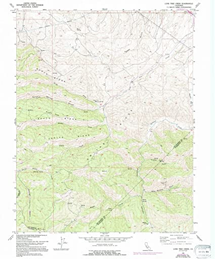Amazon com: California Maps | 1955 Lone Tree Creek, CA USGS