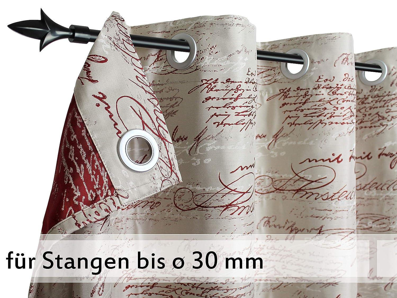 Doppelpack zum Sparpreis - - - Neutex - Blickdichter Ösenschal Scriptum von deko trends - made in Germany - Markenqualität in 4 harmonischen Farbkombinationen - Stoffbreite ca. 146 cm - Stoffhöhe ca. 245 cm, grau schwarz B00FRGSR70 Vorhnge 058ec2