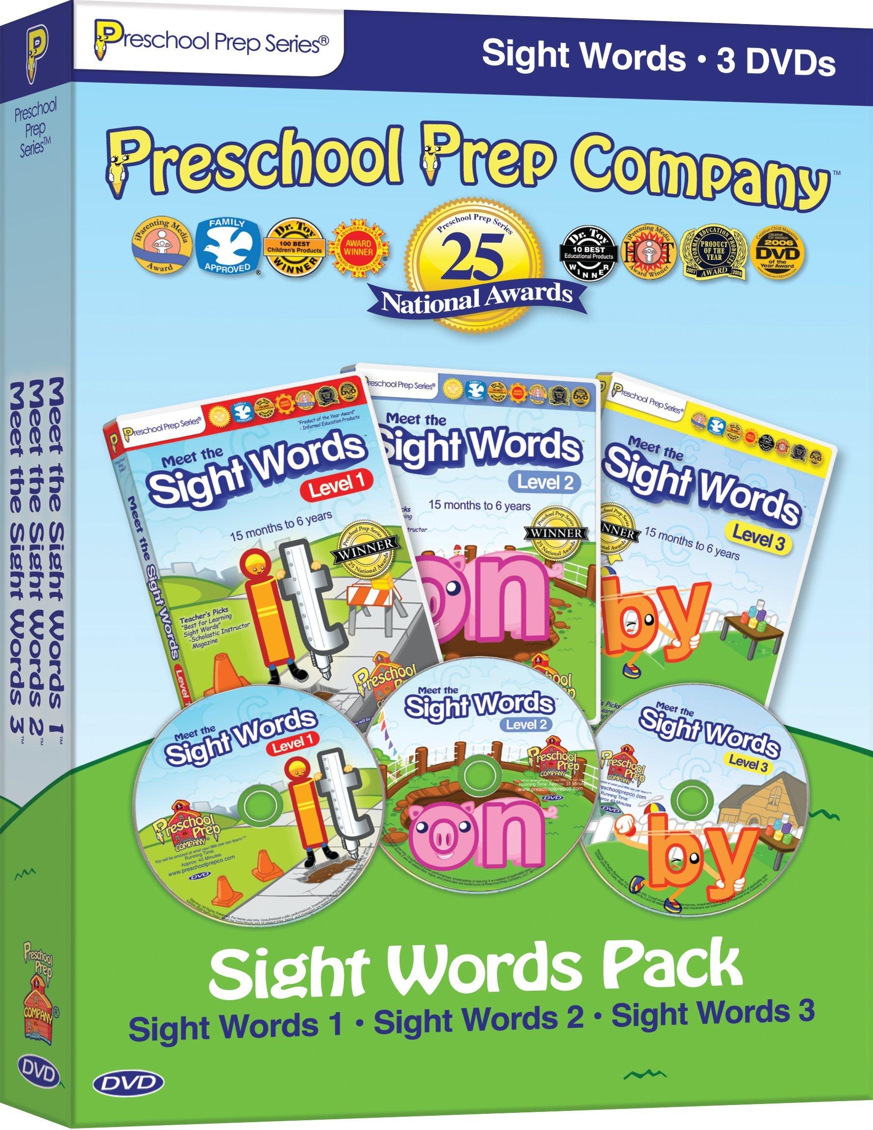 Amazoncom Preschool Prep Series Sight Words Pack Meet The Sight