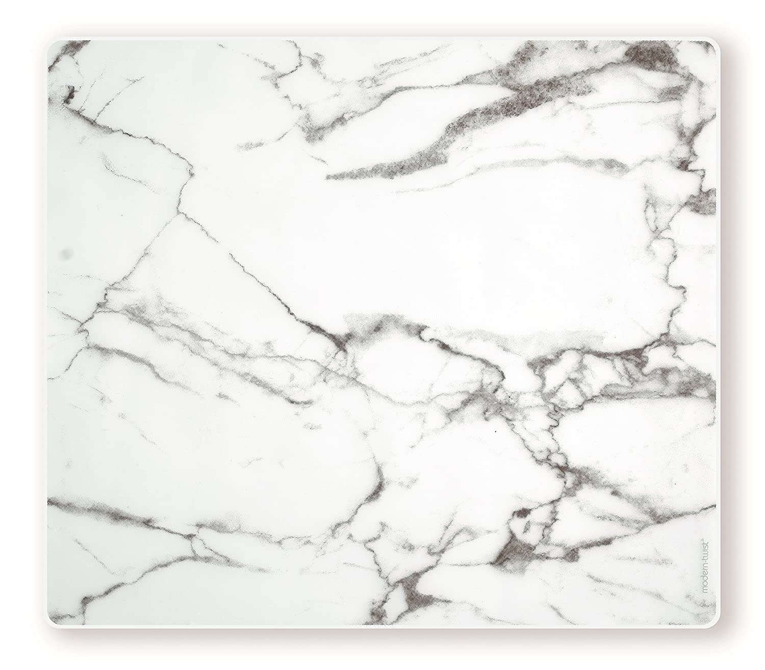 modern-twist Marble Pattern, Grey Color Silicone Rectangle Placemats for Dining and Decoration, Modern Design Non-slip Heat Resistant