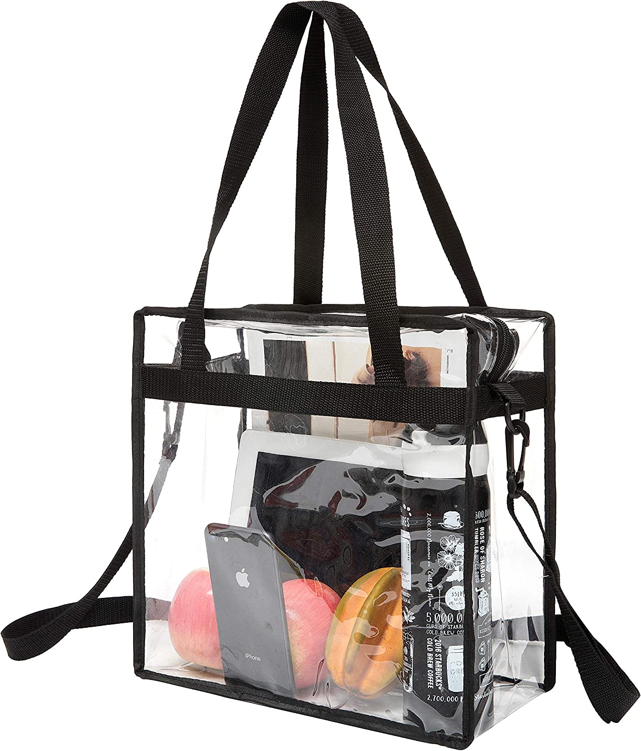 BAGAIL NFL and PGA Stadium Approved Clear Tote Bag with Zipper