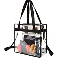 BAGAIL NFL and PGA Stadium Approved Clear Tote Bag with Zipper Closure Crossbody Messenger Shoulder Bag with Adjustable…