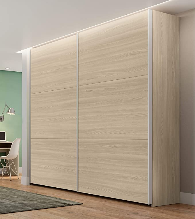 Armario para habitación de niños 2 Puertas correderas Modelo Zen Color Olmo cm L255: Amazon.es: Hogar