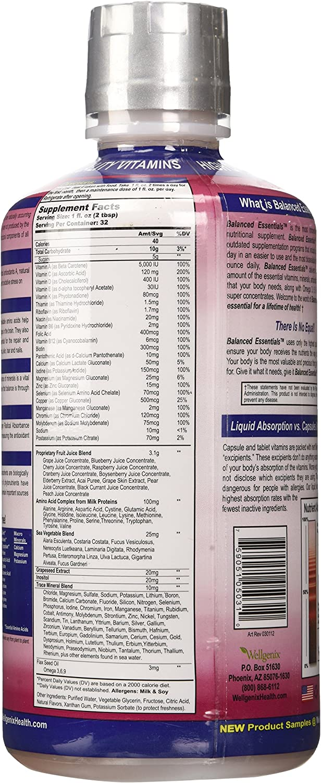 Balanced Essentials Liquid Nutritional Supplement, 32 Ounces – Very Berry