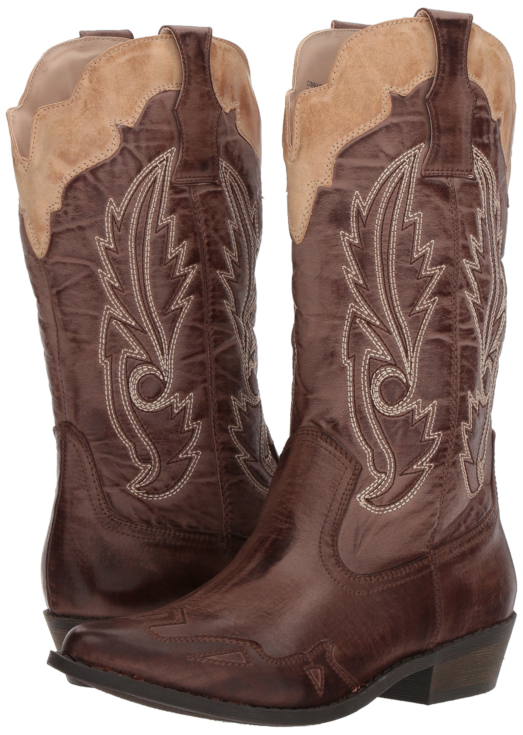 Coconuts by Matisse Women's Cimmaron Boot,Choco/Beige,10 M US by Coconuts by Matisse (Image #6)