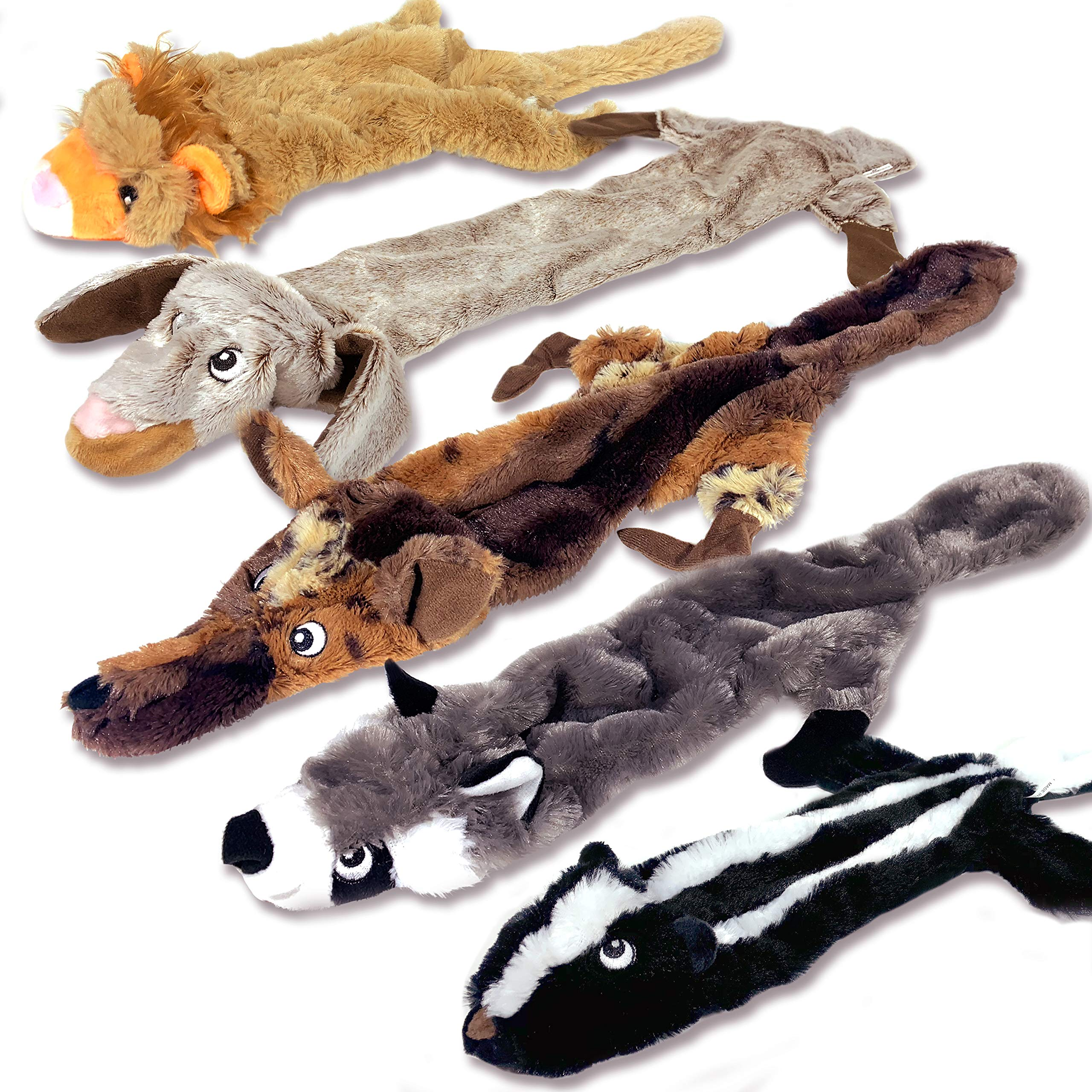 High Five Pets Dog Squeaky Toys – No Stuffing Dog Toys Set – No Dangerous Fluff to Chew or Swallow – 2 Squeakers – Big…