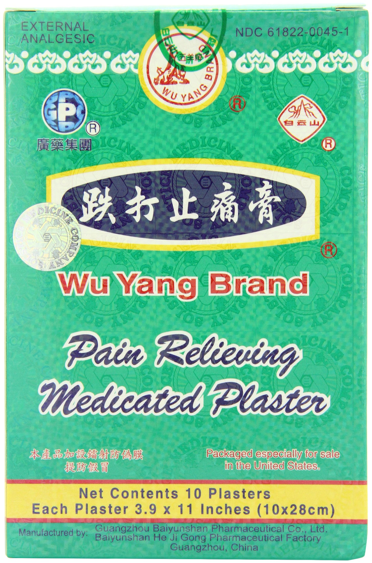 Amazon.com: Wu Yang Pain Relieving Medicated Plaster External ...