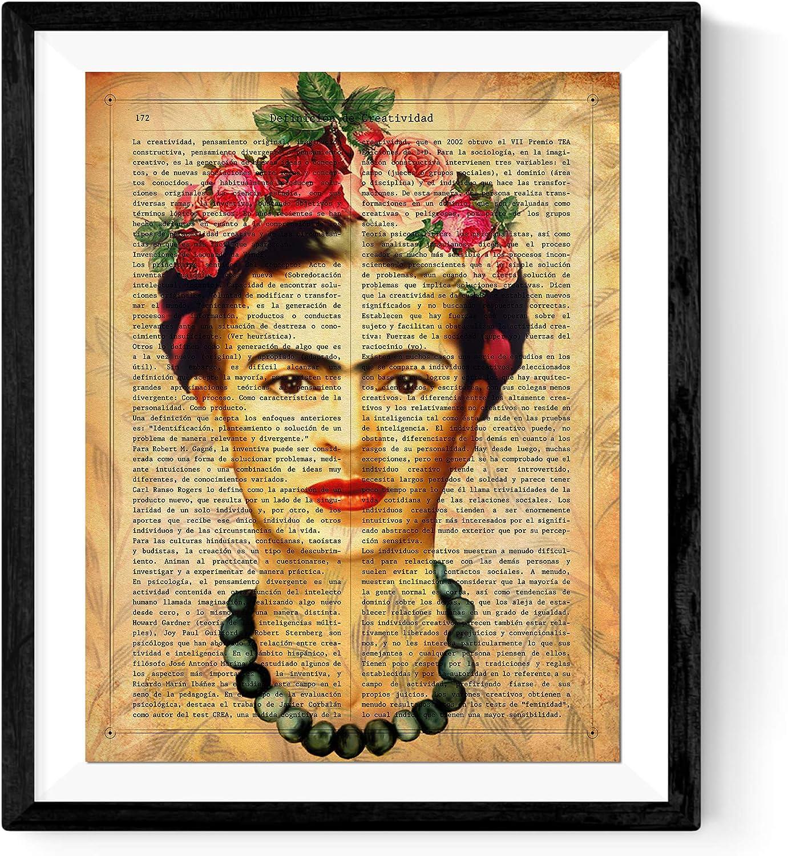 Nacnic Lámina Frida Kahlo con la definición de Creatividad y con ...
