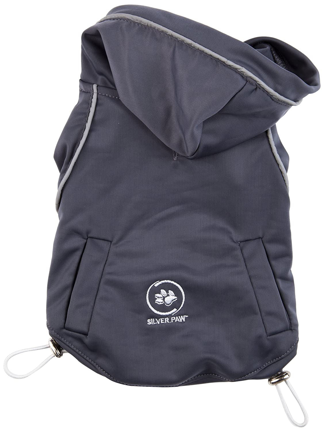 Size Medium Charcoal Grey Mix Silver Paw Anti-Odour and Anti-Bacterial Summer Yoga Wear Dog Hoodie