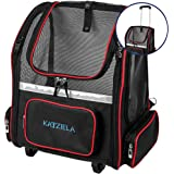 Katziela Wheeled Pet Carrier Backpack - Soft Sided, Airline Approved Hiking Carrying Bag for Small Dogs and Cats…