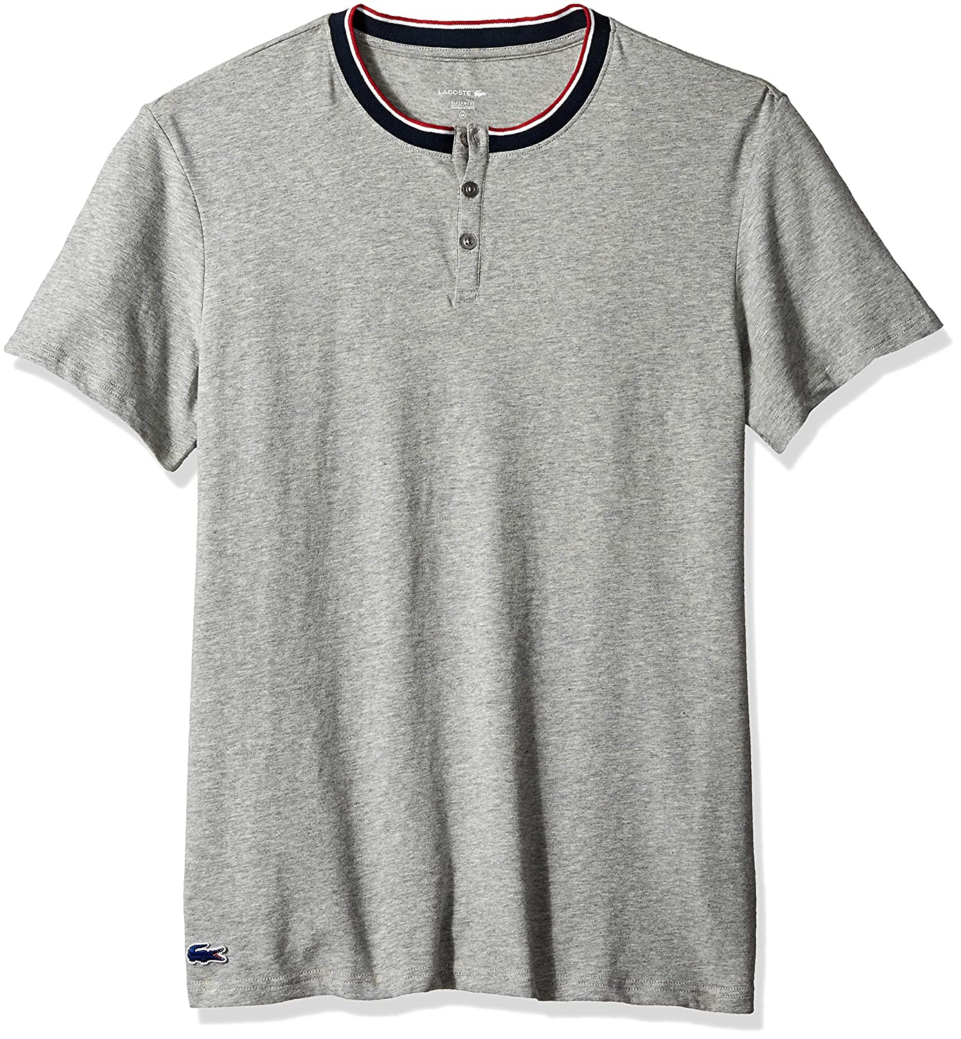 Lacoste Mens French Flag Henley Lounge Top