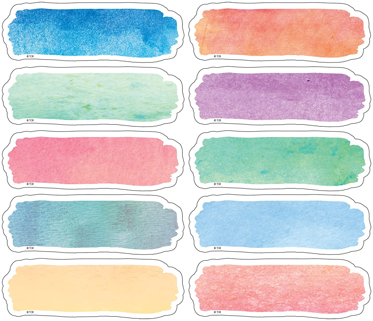 Teacher Created Resources TCR77362 Watercolor Labels Magnetic Accents